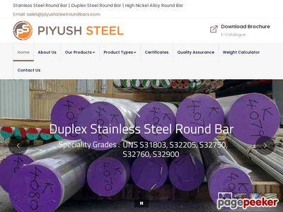 piyushsteelroundbars.com